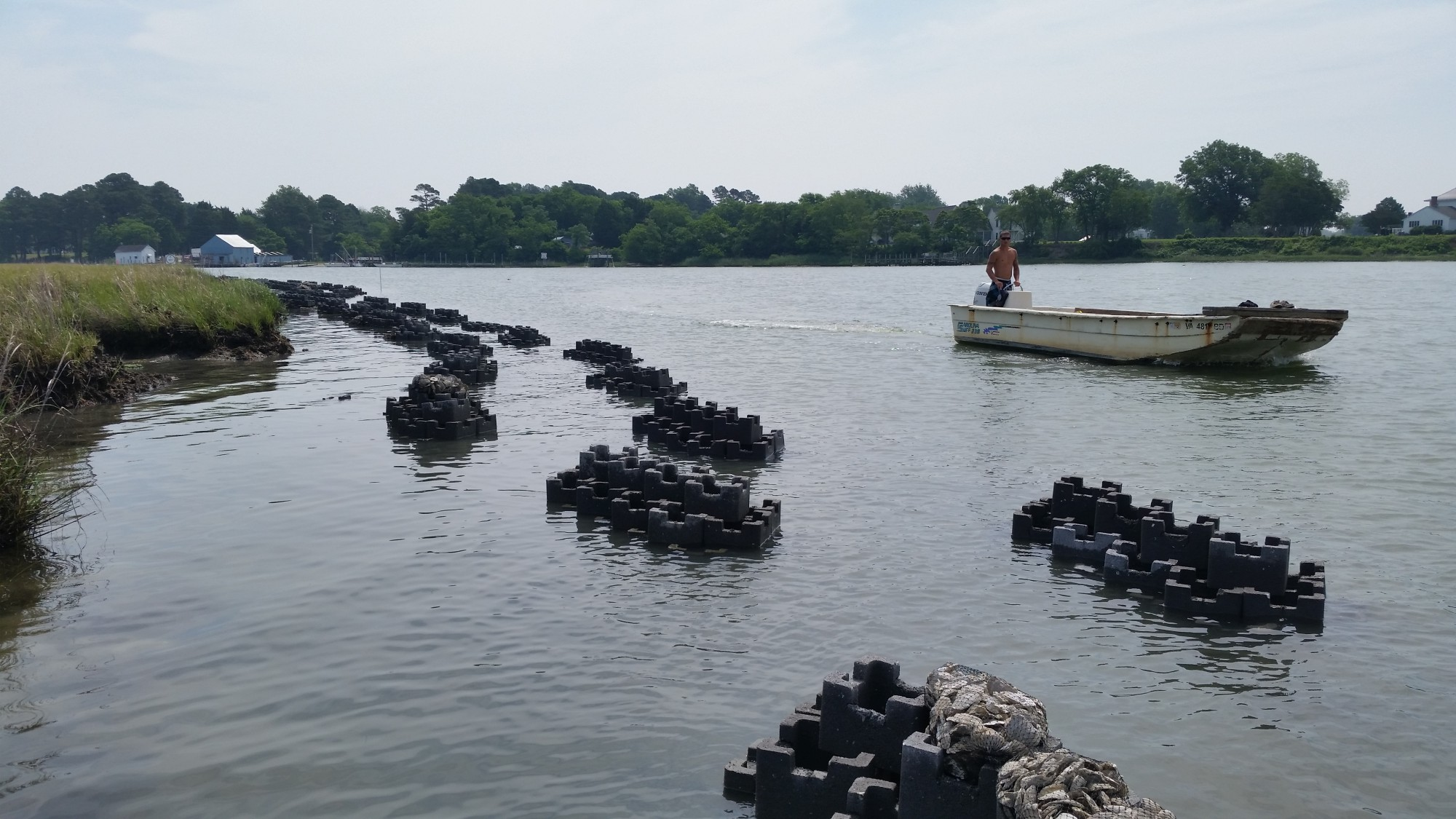 Oyster Castle Living Shoreline Project with the VMRC